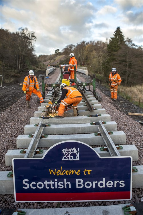 Borders Railway Rail Installation Team In Action