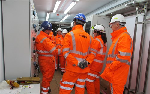 Pupils Learn About The Signalling Of The New Line