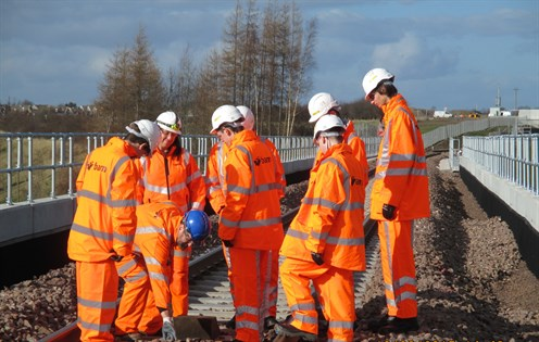 Falkirk High School Pupils Learn About The Borders Railway